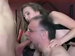 Spouse takes orders from domina and sucks dong