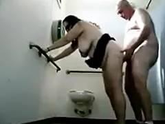 Lad Bonks A Granny In Public Toilets