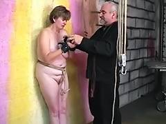 Thick big beautiful woman dark brown acquires cum hole abased with hook and booty spanked red