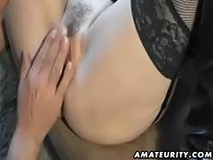 Sexy non professional Mother I'd Like To Fuck sucks and bonks with spunk flow on slit