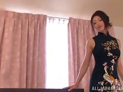 Reiko Kobayaka sucks her man's cock and takes a wild ride on it