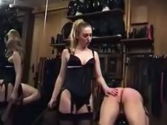 Dominant Bitch in Nylons Spanks Belts and Canes