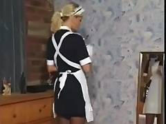 Maids videos. Ebony maid blackmails her boss and demands him to lick her ass