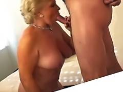 Sexy Golden Haired Granny Smokin' Sex