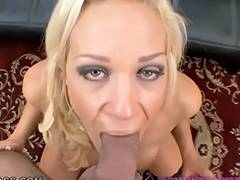 Nasty wife Ava Delane showing off oral job skills