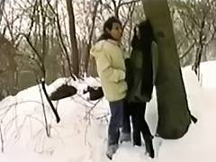 Fucking In The Park In The Snow