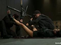 Bondage Action with Gia Dimarco Sucking Cock and Getting Toyed