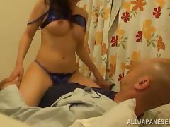 Spicy Japanese chick gets fucked rough in a bedroom