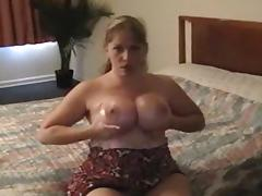 Busty wife enjoys a ding-schlong in her mouth