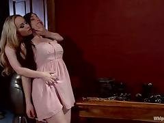 Cute Naidyne gets tortured and punished by hot Aiden Starr
