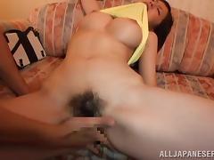 Sweet Kaede Niiyama gets her hairy vagina fucked