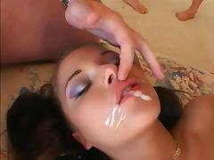 Busty slut Swallow 5 Cumshots