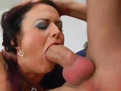 Hardcore anal sex with slender brunette Liz