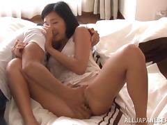 Pretty Asian chick gets her snatch fingered and fucked like never before