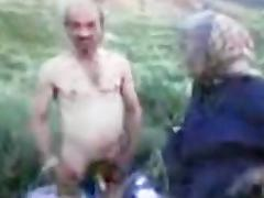 Grandpa and Grandma Outdoor porn video