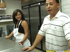 Fransheliz Vasquez is getting fucked by a cook