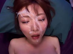 Chubby Asian siren Hana Nonoka gets facialized