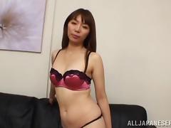 Skillful Japanese girl gives a blowjob in POV video