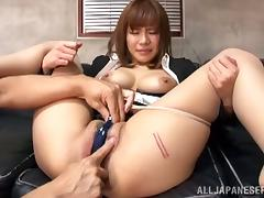 Suzu Tsubaki the slutty office girl gets fucked by her boss