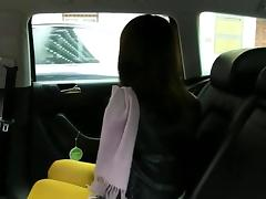 Hot Japanese tourist fucked in taxi