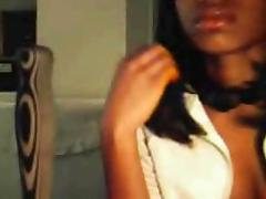 young black legal age teenager on web camera