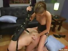 Beautiful Audrey Leigh Dominates and Strapon Fucks an Ugly Old Man