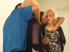 Blonde granny gets unforgettably fucked in a bathroom
