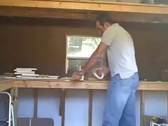 Fucking in the shed