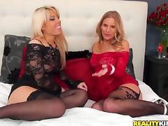 Vagina, Big Tits, Blonde, Fingering, Lesbian, Lingerie