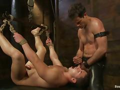 Marc Dylan gets his ass whipped in a basement and enjoys it