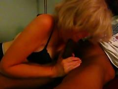 Mature Blonde loves sucking BBC
