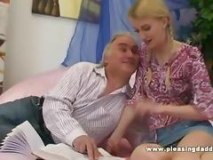 Blond Slut Fucks Old Teacher