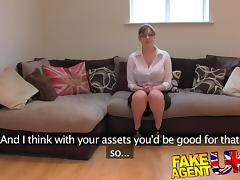 FakeAgentUK: Amateur British girl with huge tits gets multiple orgasms porn video