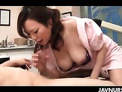 Nasty nurse playing slut with her patient in asian sex video