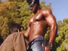 Hunky Black Man Fucks Nasty Beefy Gay