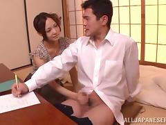 Cute Japanese babe Yukina Momota sucks that dick with her yes closed