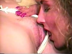 Hairy MILF lesbian sex