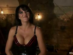 Roxanne Hall gets her snatch fisted and toyed by Lorelei in BDSM scene