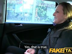 FakeTaxi: Disappointed professional in back seat anal