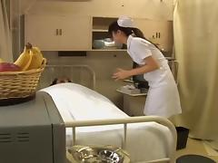 Jap naughty nurse gets crammed by her elderly patient