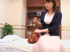 Tender Jap broad nailed well in spy cam erotic massage clip porn video