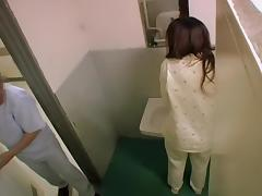 Guy filmed a lusty Japanese couple shagging in a toilet