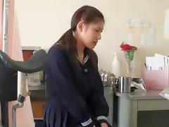 Loriko gets her pussy examined by the asian gynecologist