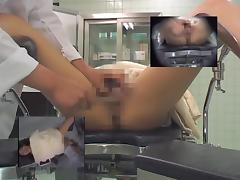 Girl is on medical hidden cam stretched and examined porn video