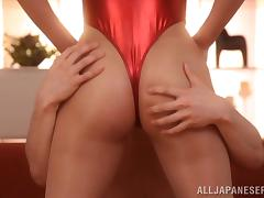 Japanese Girl Asahi Mizuno Does a 69 and Gives Cock Ride in Swimsuit