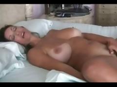 Bed, Bed, Big Tits, Boobs, Hairy, Masturbation