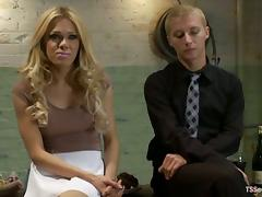 Pretty blonde tranny Paris fucks a guy named Prince