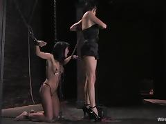 Anal Fisting and Toying Torture in Bondage BDSM Lesbian Femdom