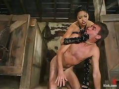 Rope Bondage and Pegging in Femdom with Asian Mika Tan