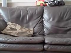 Cute british girl fucked on the sofa